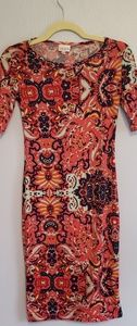 LuLaRoe Floral Paisley Julia Dress Size XXS